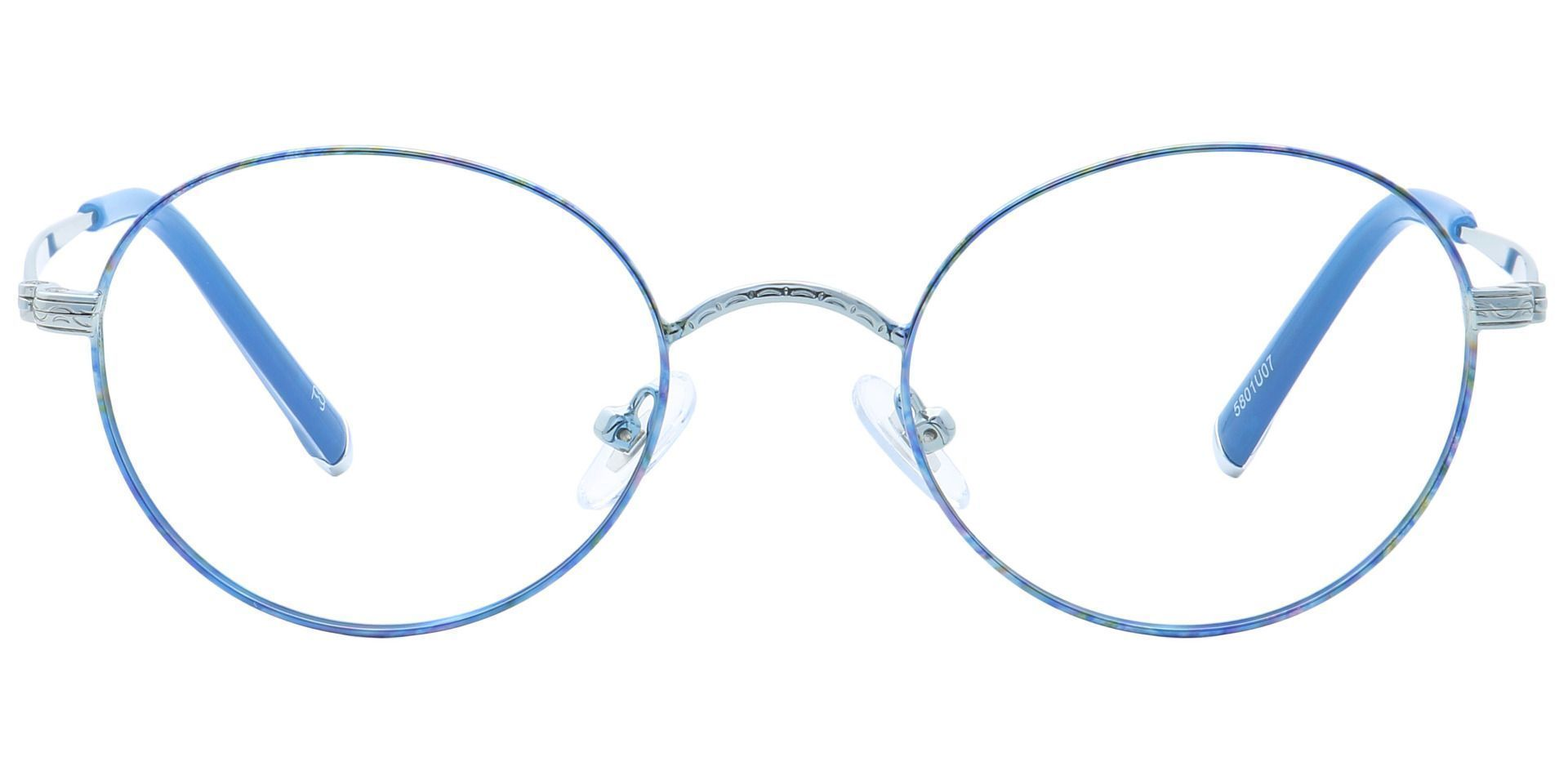 Skylar Round Eyeglasses Frame - Blue