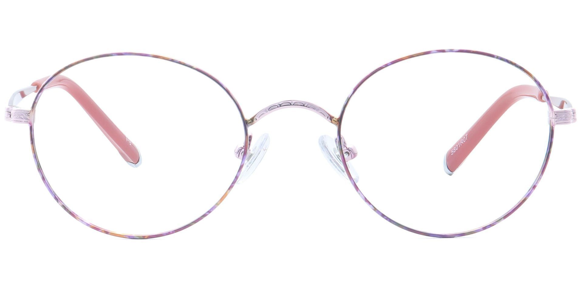 Skylar Round Blue Light Blocking Glasses - Red