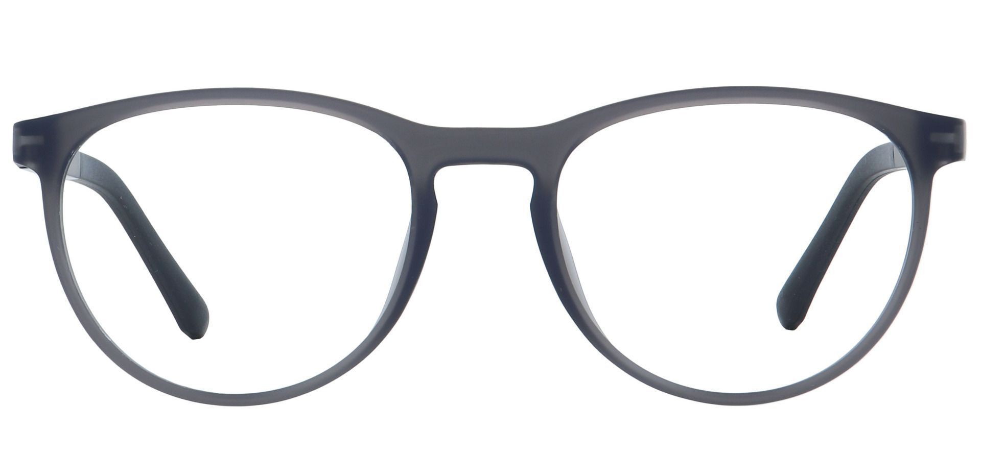 Heidi Round Progressive Glasses - Matte Dark Grey