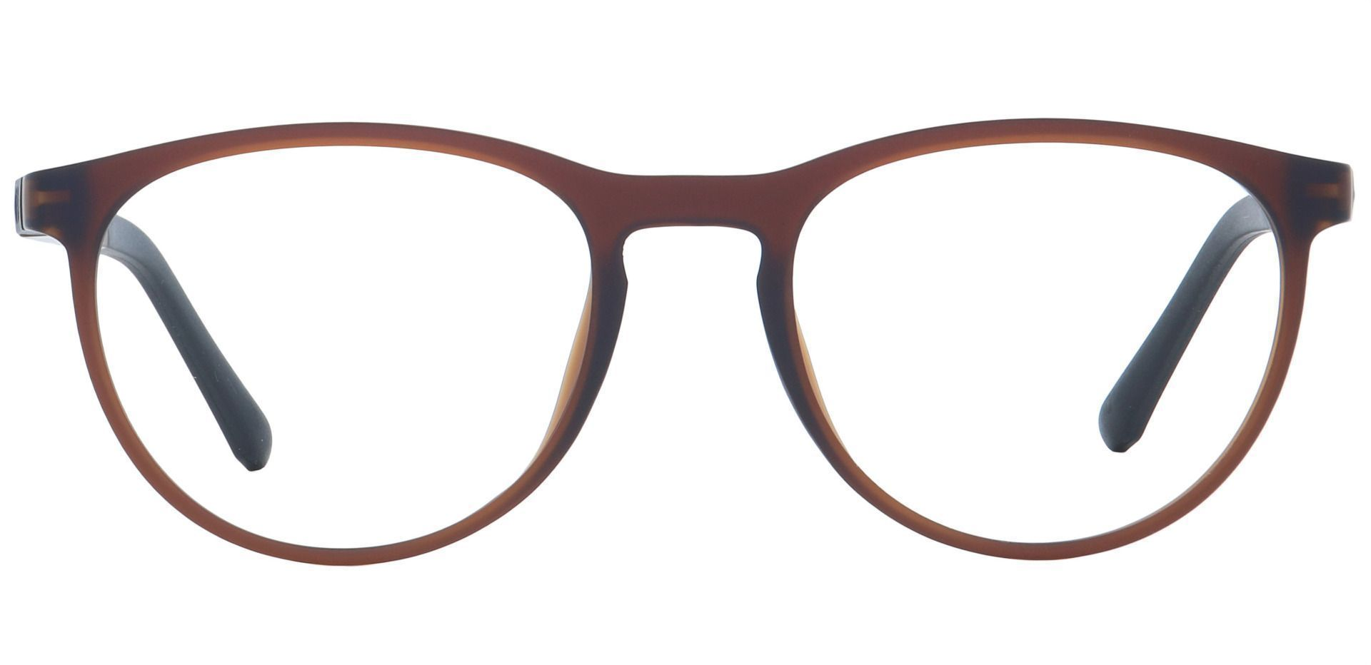 Heidi Round Blue Light Blocking Glasses - Matte Rootbeer