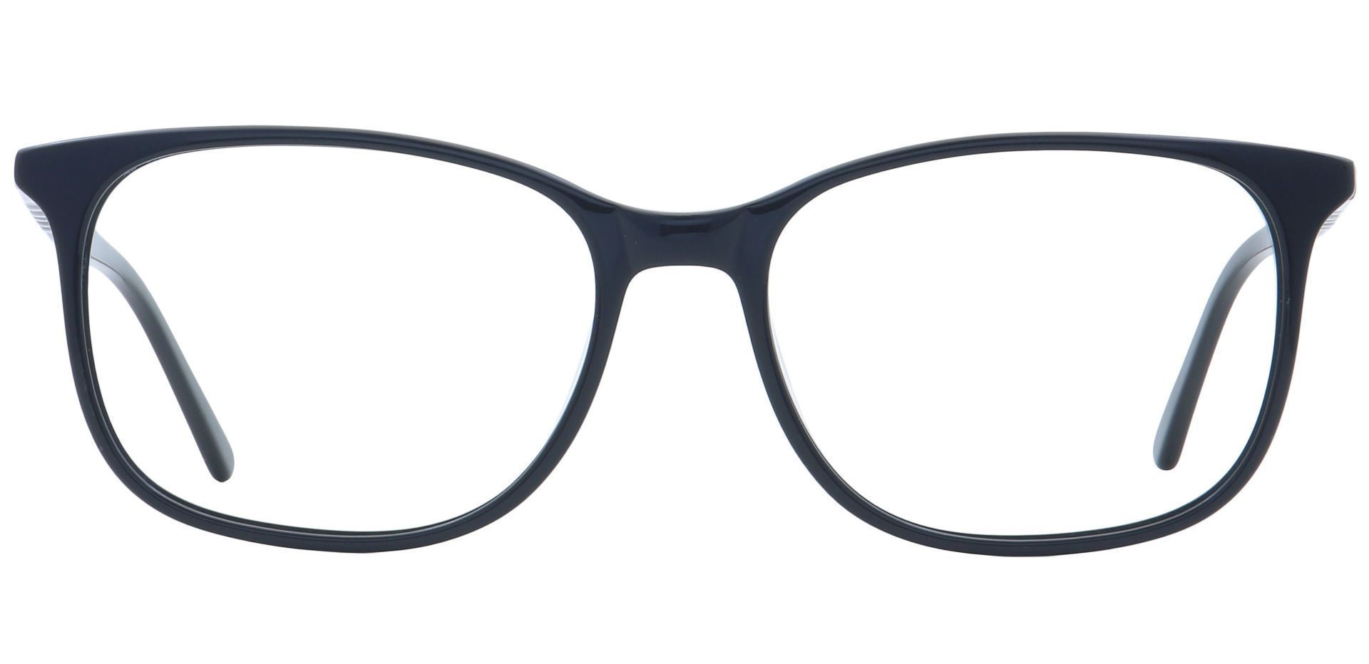 Mason Square Blue Light Blocking Glasses - Black