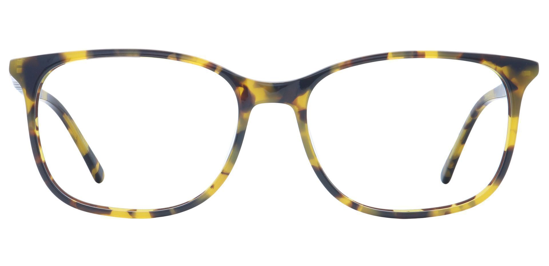 Mason Square Blue Light Blocking Glasses - Brown