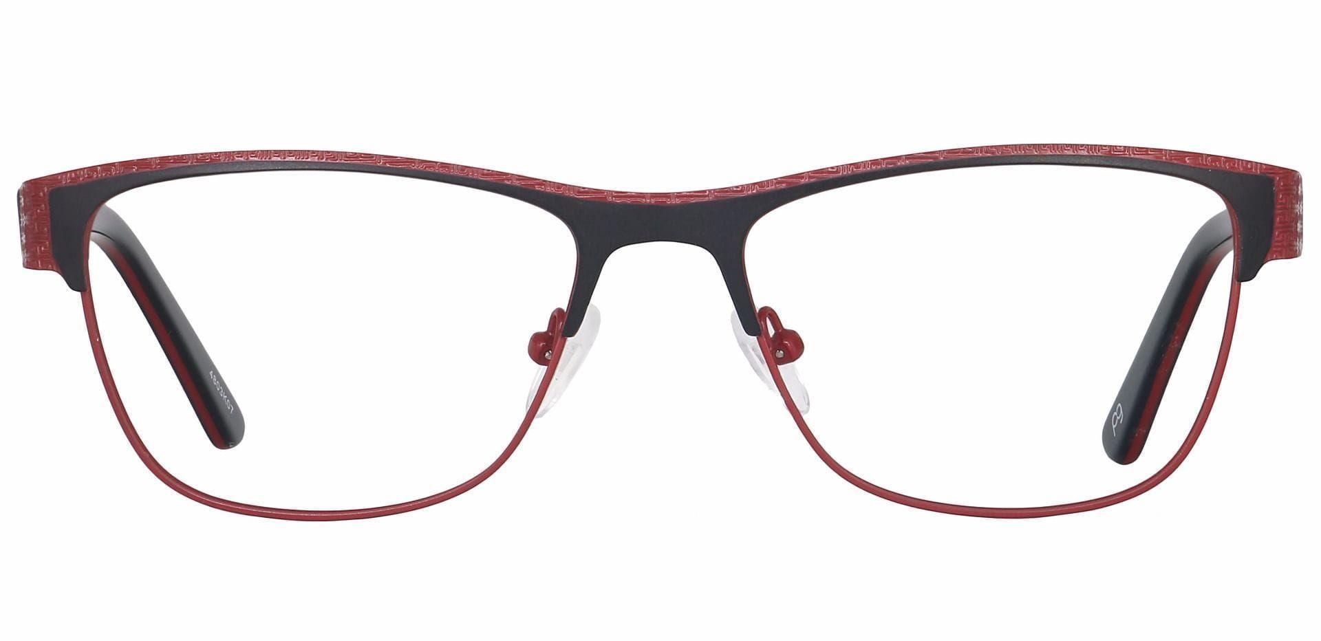 Ama Oval Progressive Glasses - Red