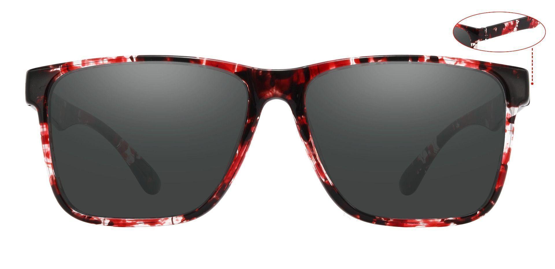 Barnum Square Prescription Sunglasses - Tortoise Frame With Gray Lenses