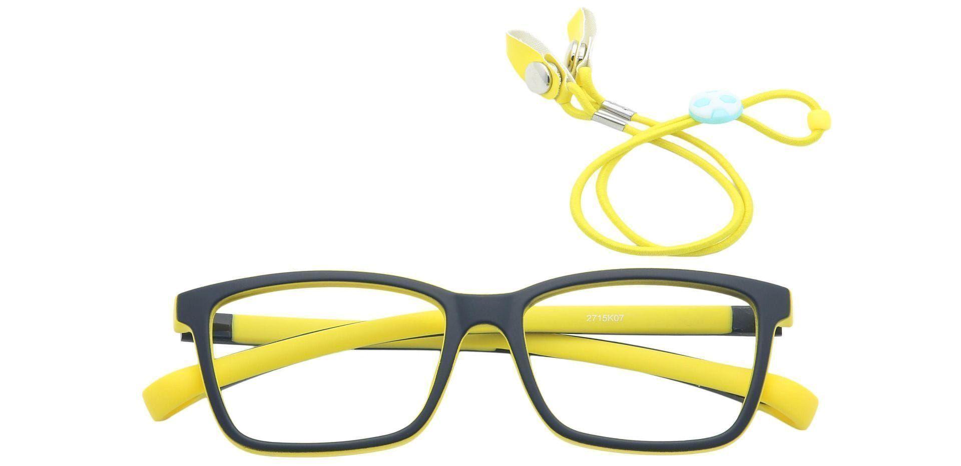 Misty Rectangle Non-Rx Glasses - Black