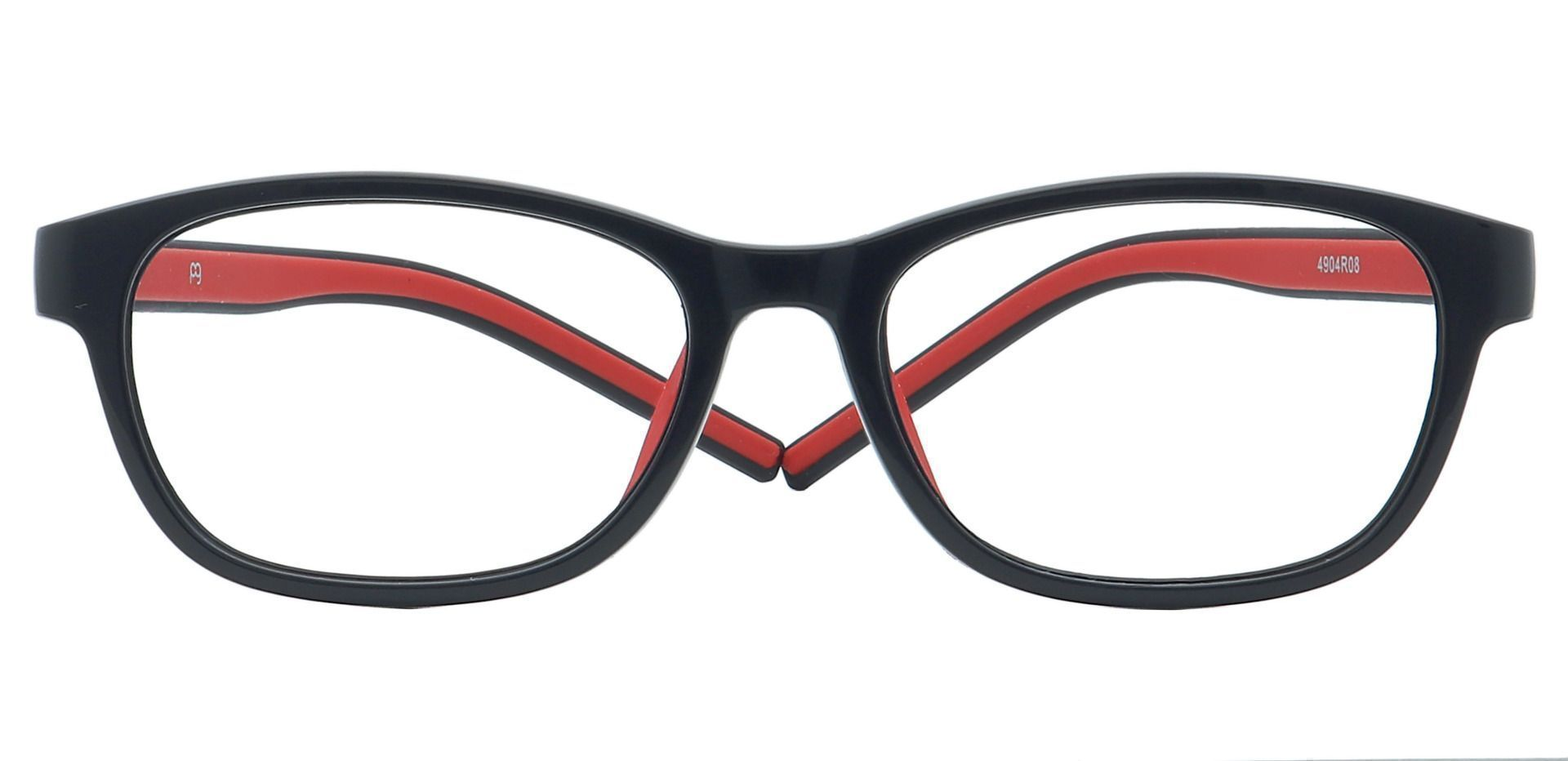 Edison Oval Prescription Glasses - Red