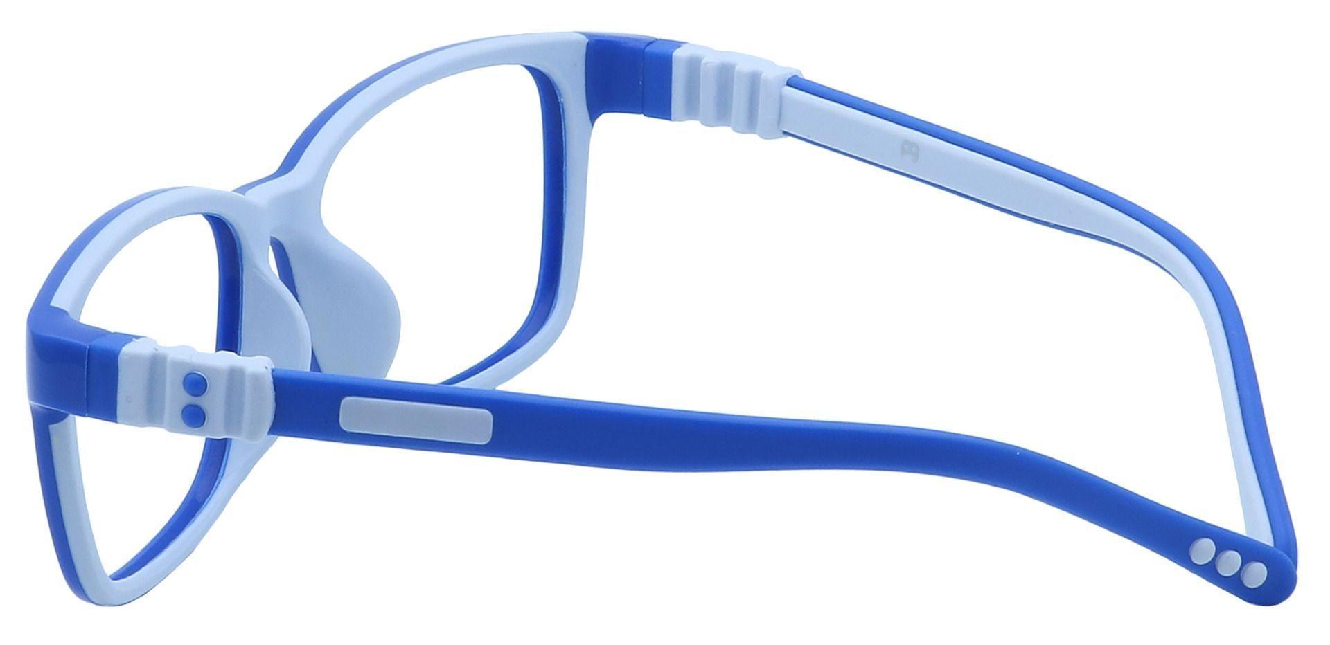 Rio Rectangle Single Vision Glasses - Blue