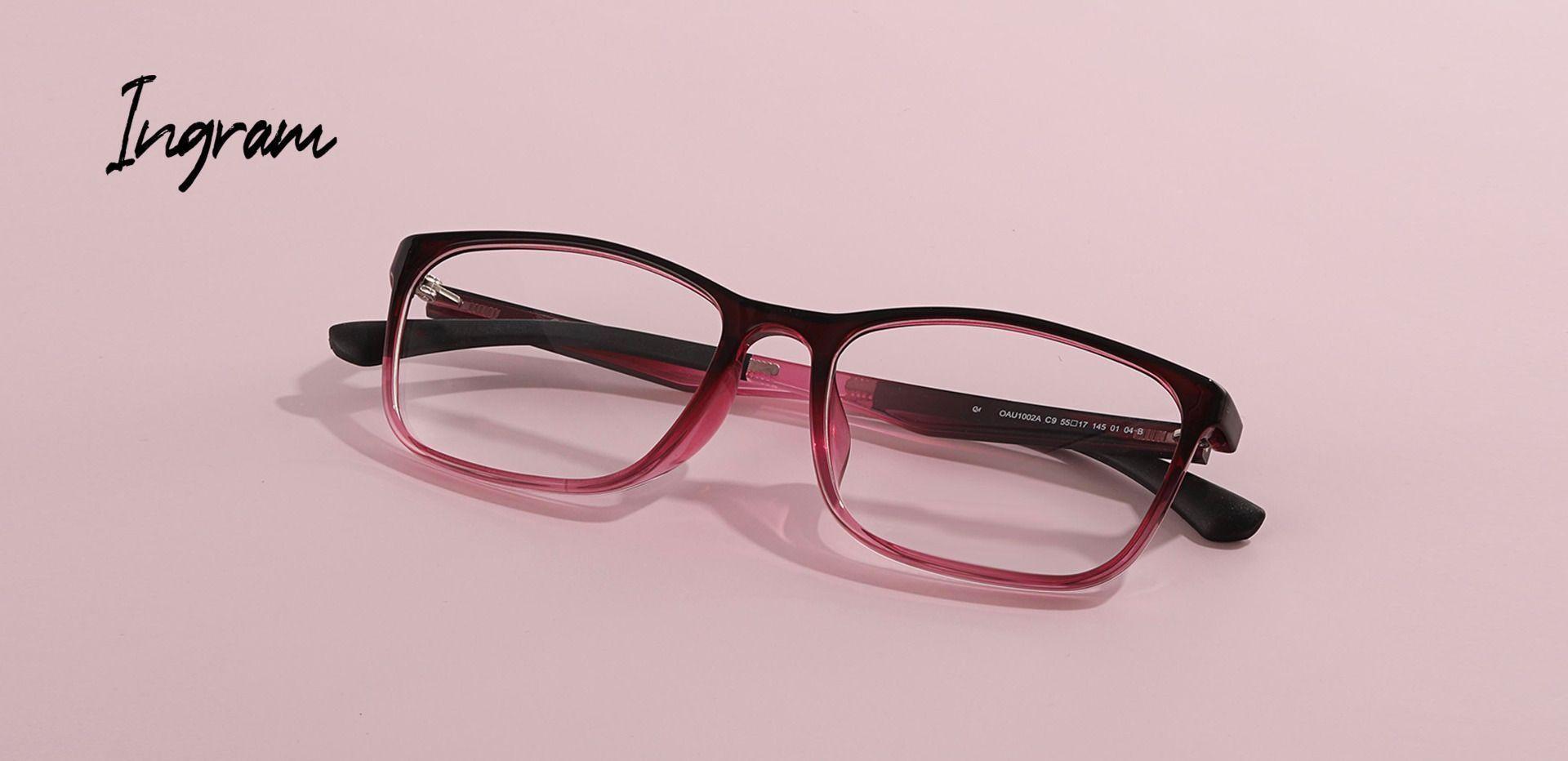 Ingram Rectangle Prescription Glasses - Pink Fade