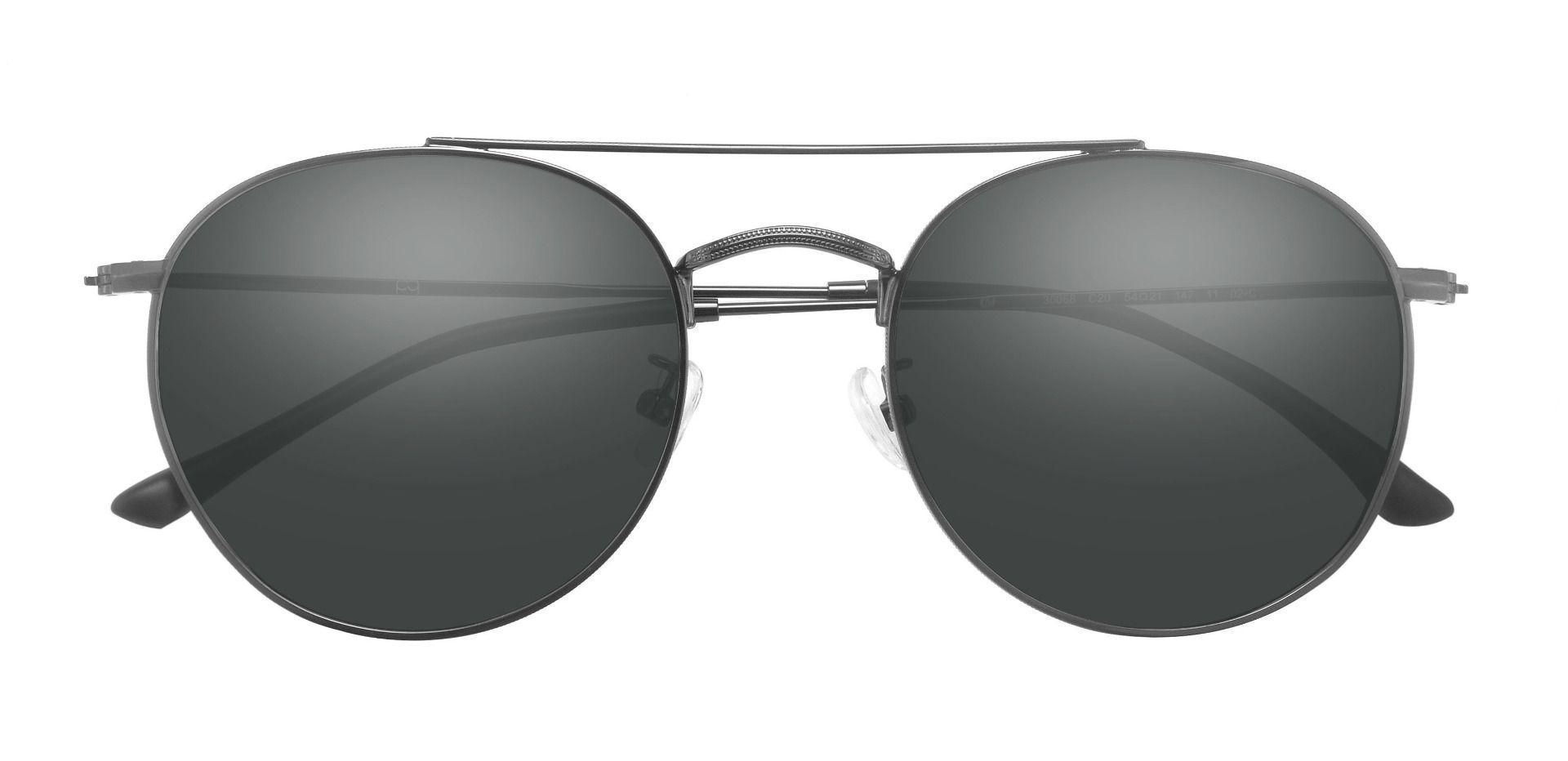 Malik Aviator Prescription Sunglasses - Gray Frame With Gray Lenses