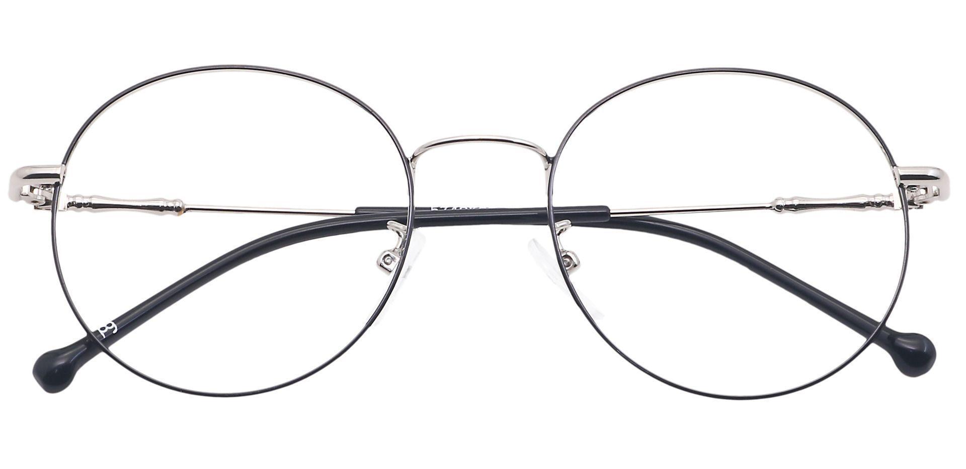 Magnus Round Blue Light Blocking Glasses - Black