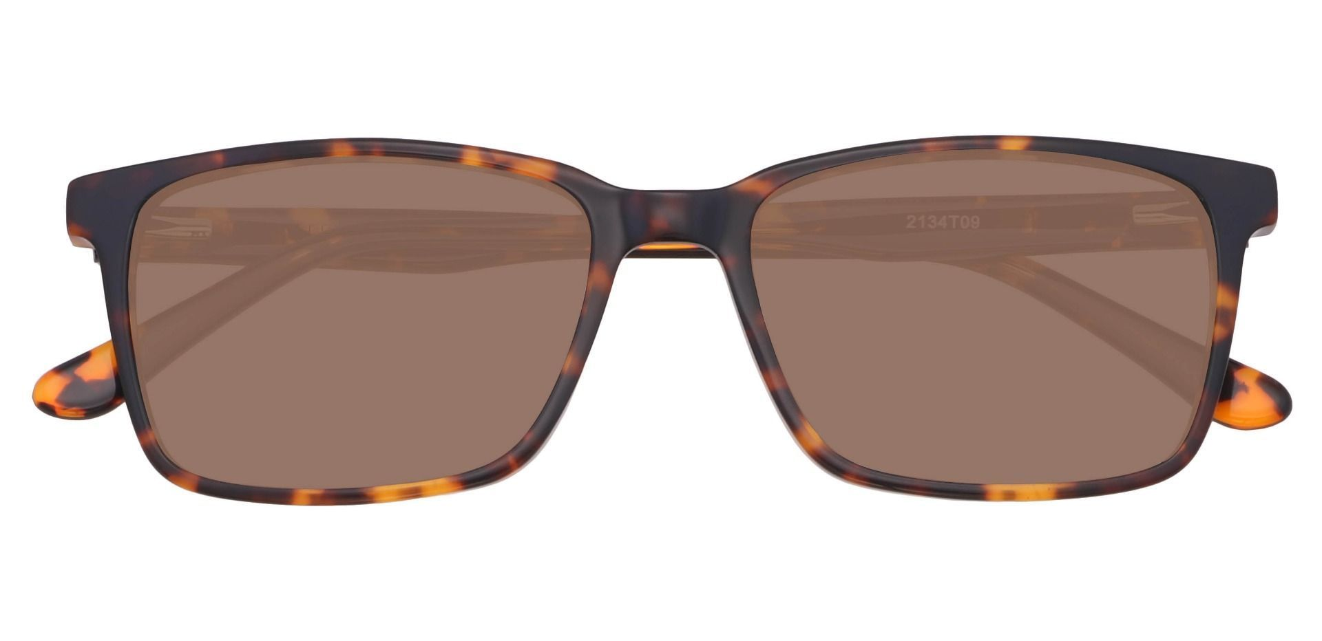 Venice Rectangle Reading Sunglasses - Tortoise Frame With Brown Lenses