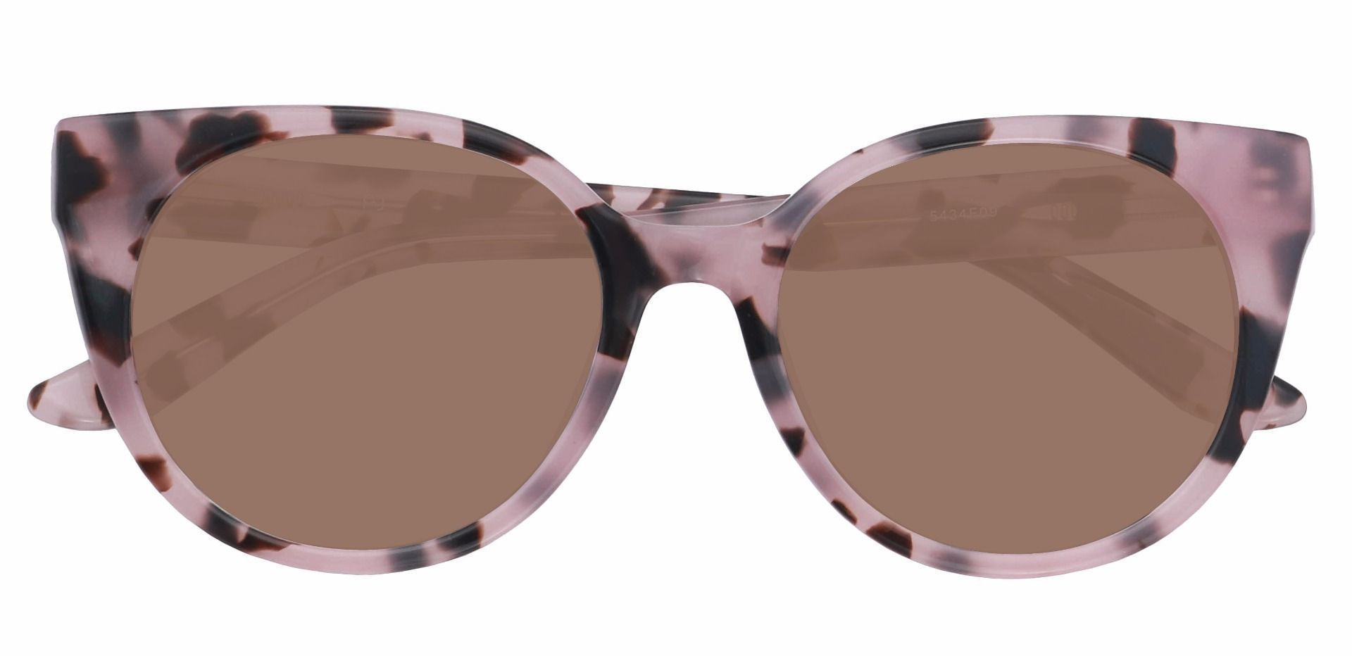 Balmoral Cat-Eye Reading Sunglasses - Floral Frame With Brown Lenses