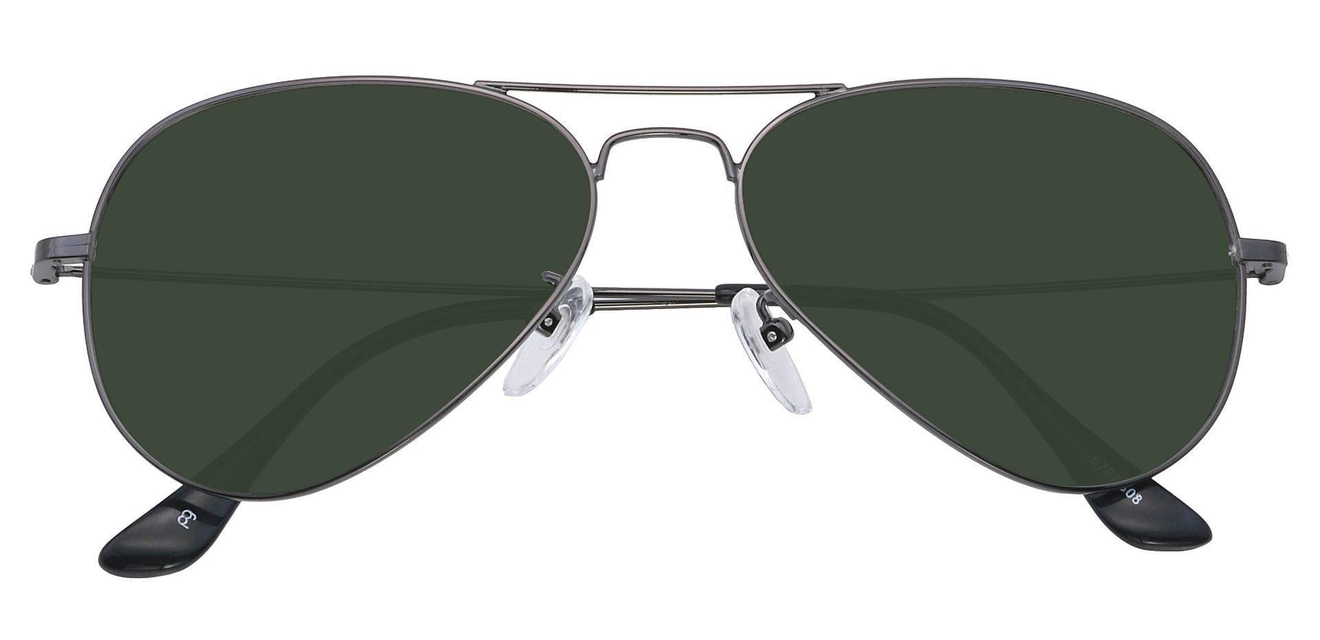Memphis Aviator Single Vision Sunglasses - Gray Frame With Gray Lenses