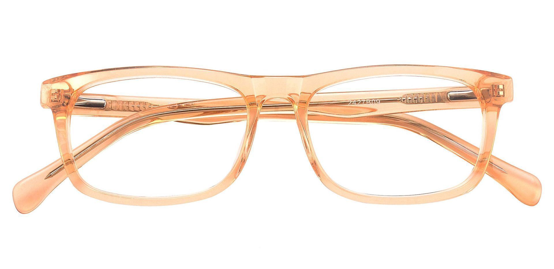Avril Rectangle Prescription Glasses -  Light Orange Crystal