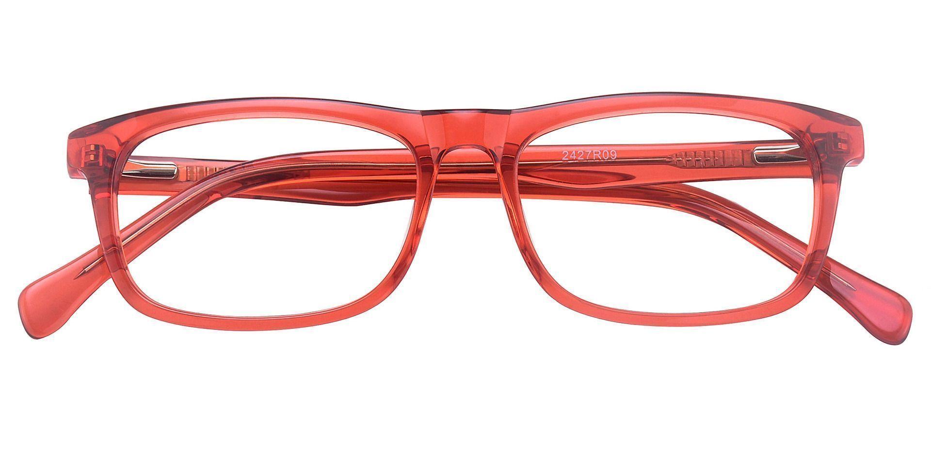 Avril Rectangle Prescription Glasses - Red Crystal