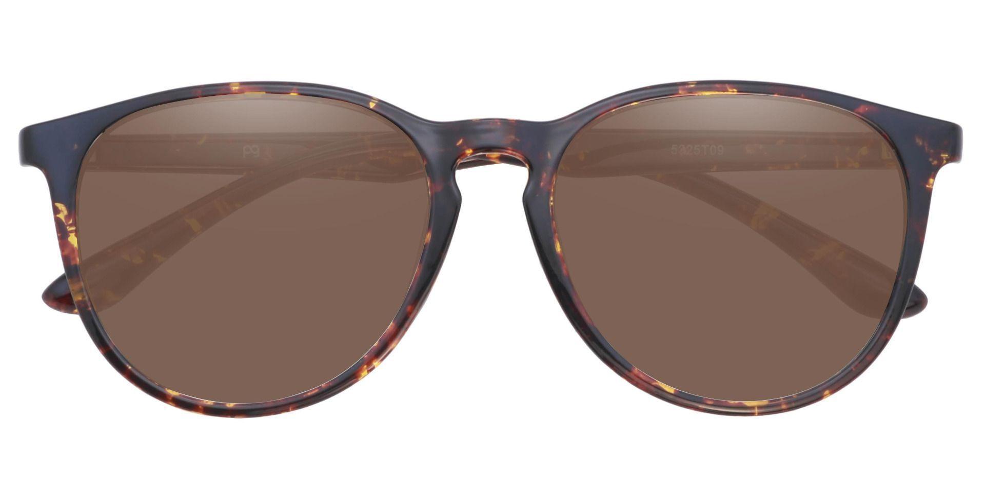 Maple Oversized Oval Prescription Sunglasses - Tortoise Frame With Brown Lenses
