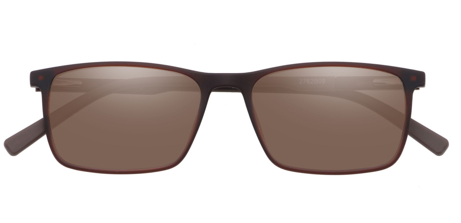Helga Rectangle Prescription Sunglasses - Brown Frame With Brown Lenses