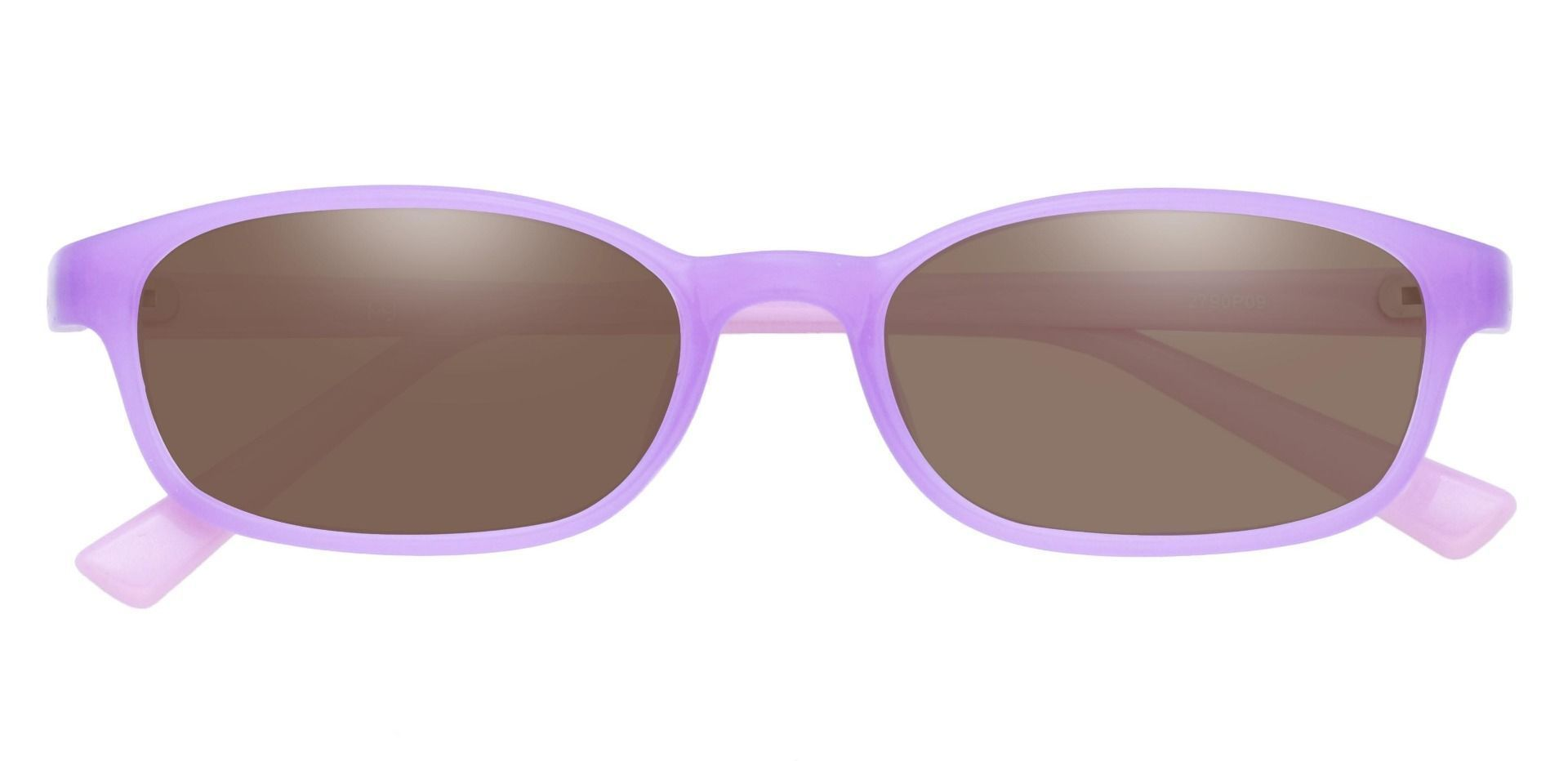 Kia Oval Single Vision Sunglasses -   Purple Frame With Brown Lenses