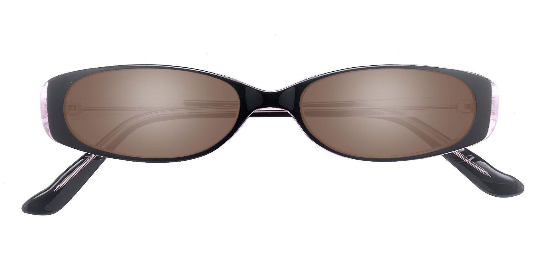 Venetia Oval Single Vision Sunglasses - Purple Frame With Brown Lenses
