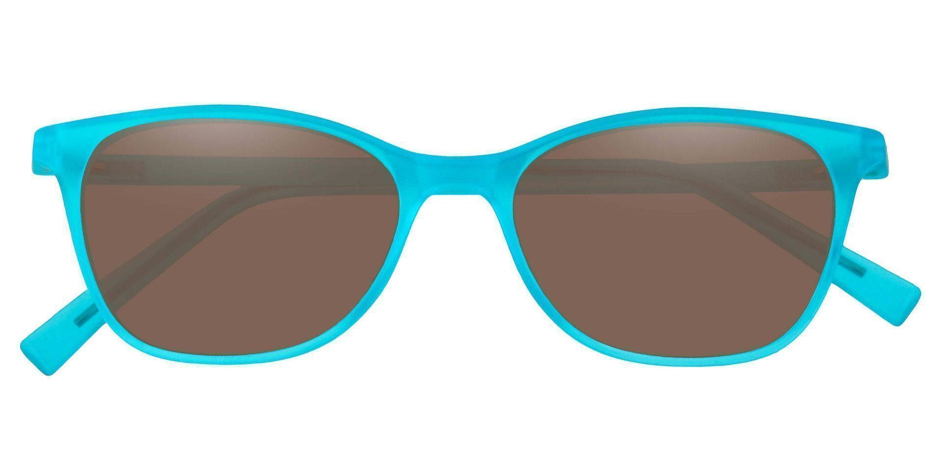 Sasha Classic Square Prescription Sunglasses - Blue Frame With Brown Lenses