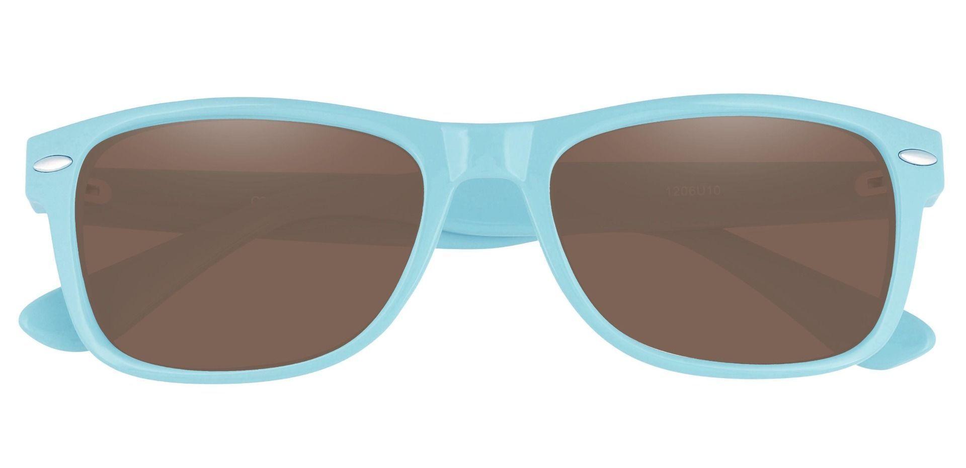 Kent Rectangle Prescription Sunglasses - Blue Frame With Brown Lenses
