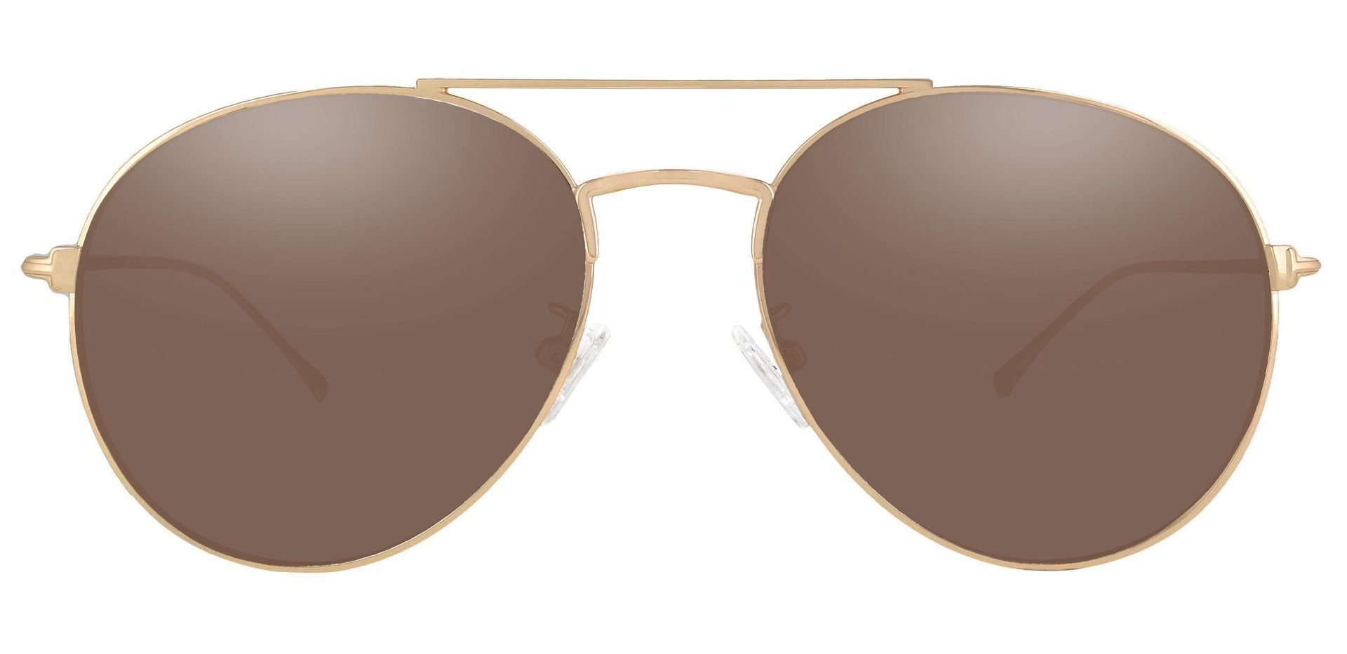 Canon Aviator Non-Rx Sunglasses - Gold Frame With Brown Lenses