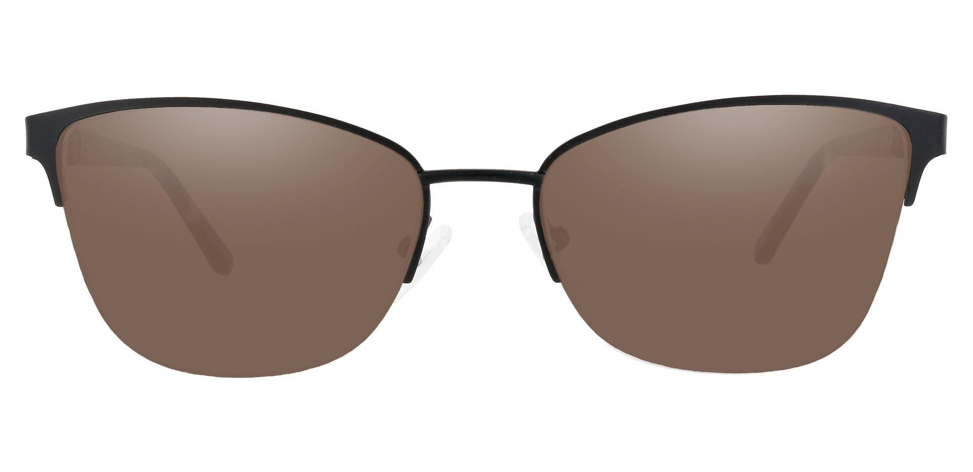 Ballad Cat Eye Prescription Sunglasses - Black Frame With Brown Lenses