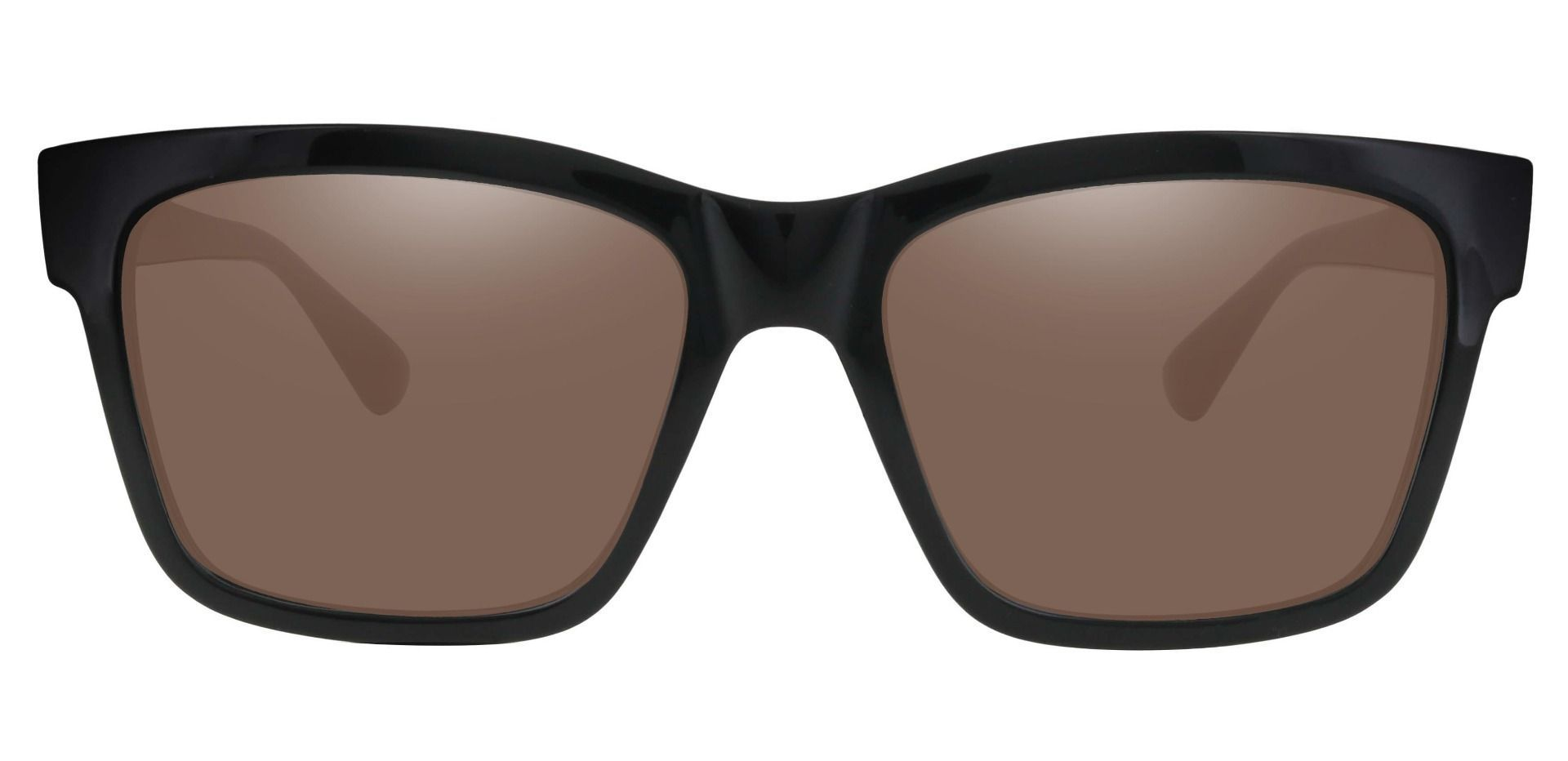 Brinley Square Lined Bifocal Sunglasses - Black Frame With Brown Lenses