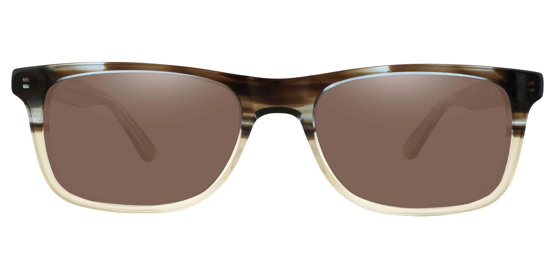Denali Rectangle Non-Rx Sunglasses - Multi Color Frame With Brown Lenses