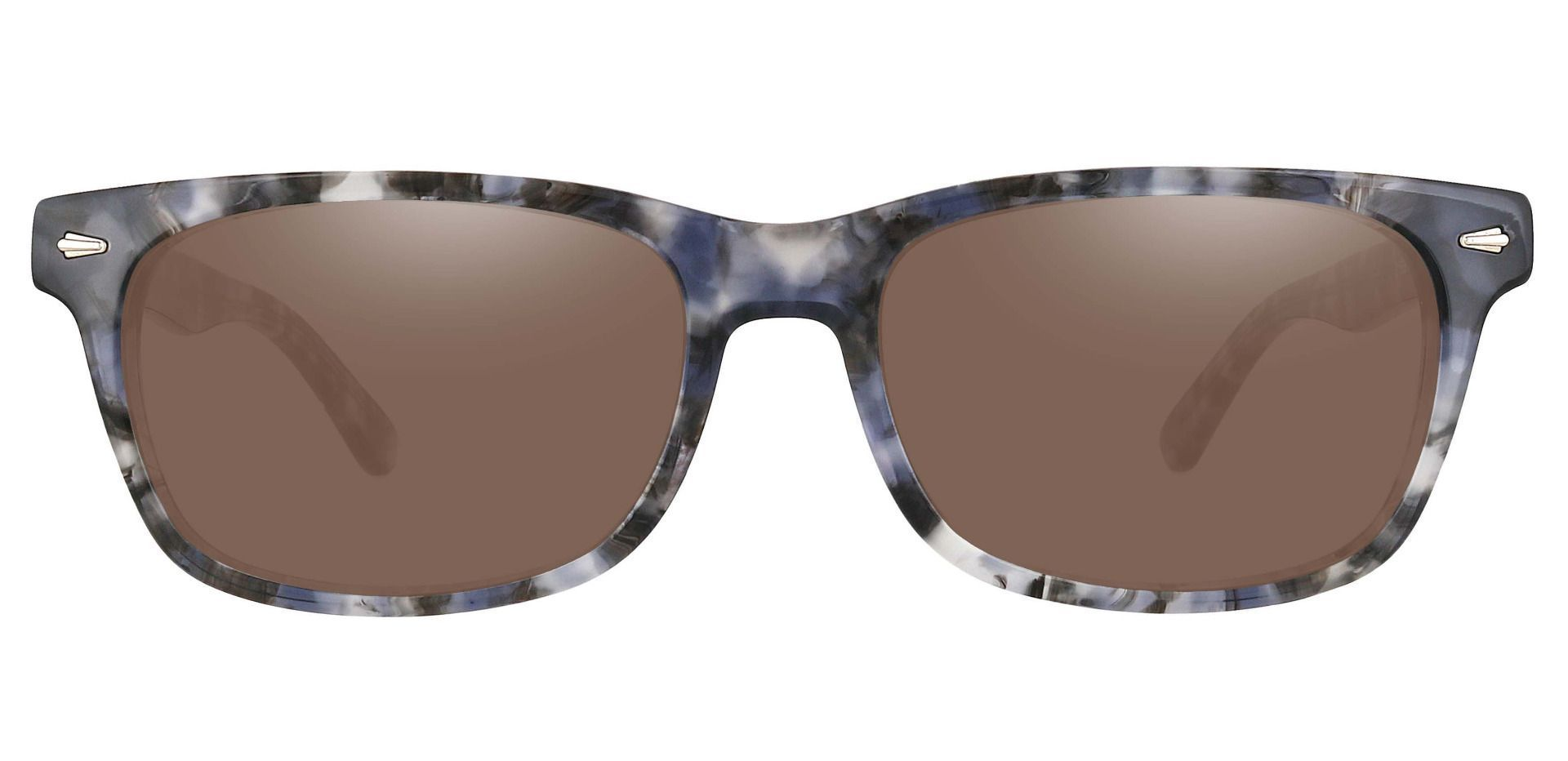 Hendrix Rectangle Progressive Sunglasses - Floral Frame With Brown Lenses