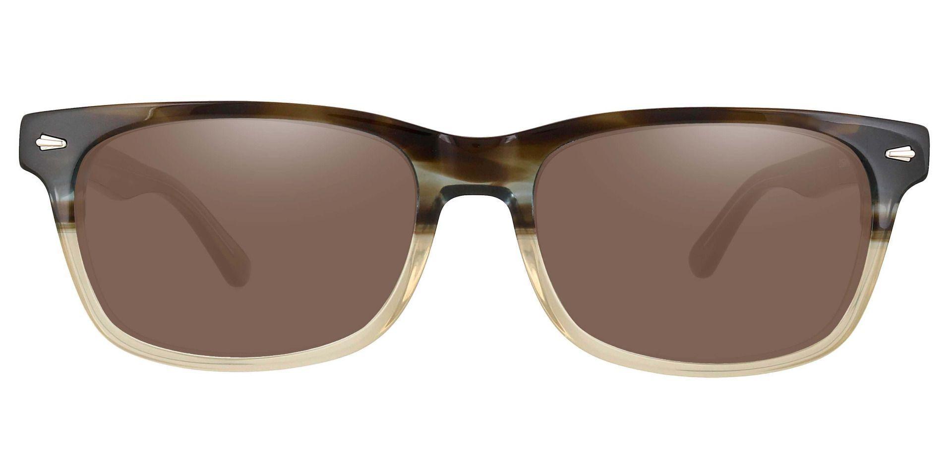 Hendrix Rectangle Progressive Sunglasses - Multi Color Frame With Brown Lenses