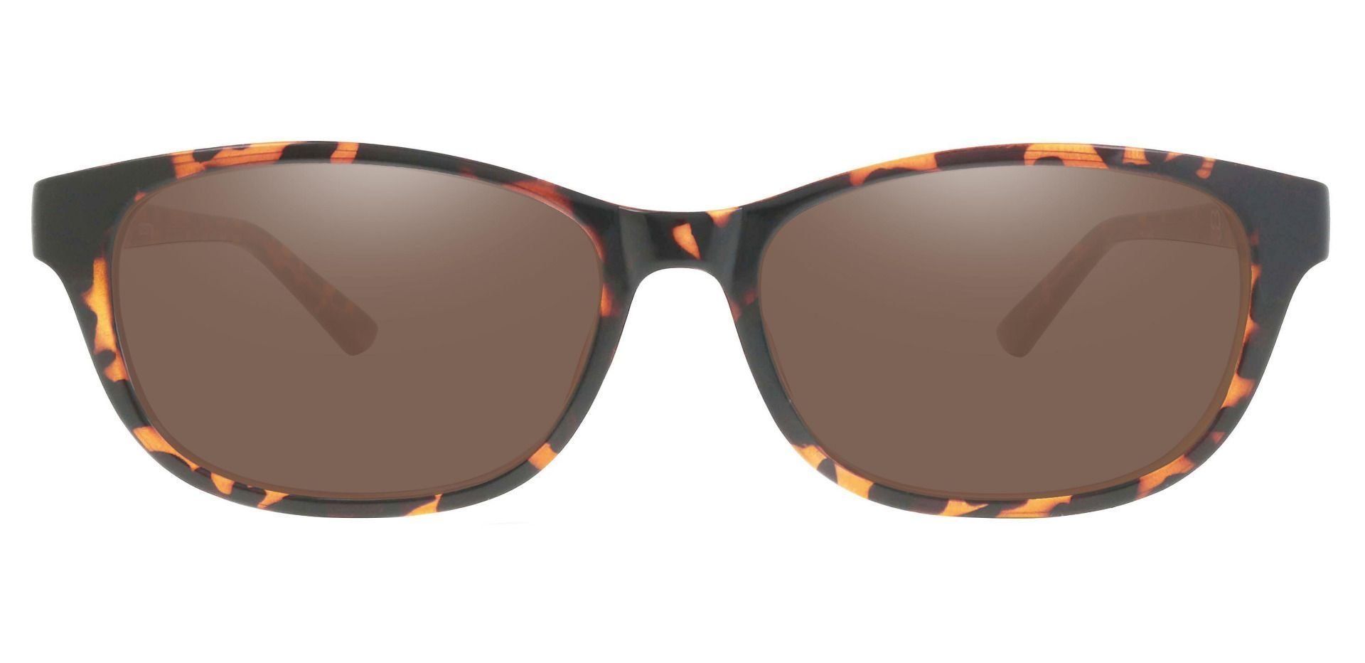 Reyna Classic Square Reading Sunglasses - Tortoise Frame With Brown Lenses