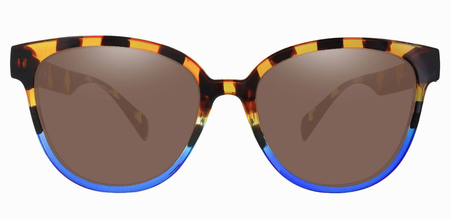 Newport Oval Non-Rx Sunglasses - Tortoise Frame With Brown Lenses