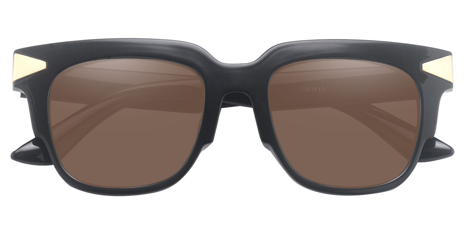 Ardent Square Progressive Sunglasses - Black Frame With Brown Lenses