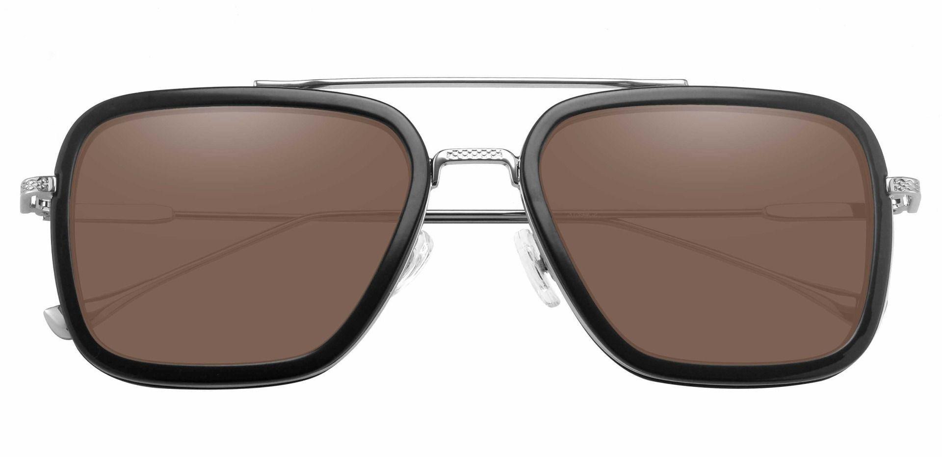 Cruz Aviator Lined Bifocal Sunglasses - Black Frame With Brown Lenses