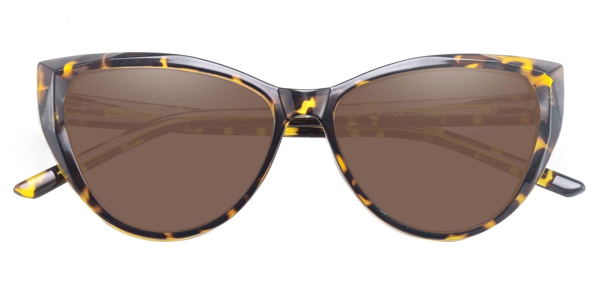 Ireland Cat Eye Prescription Sunglasses - Tortoise Frame With Brown Lenses