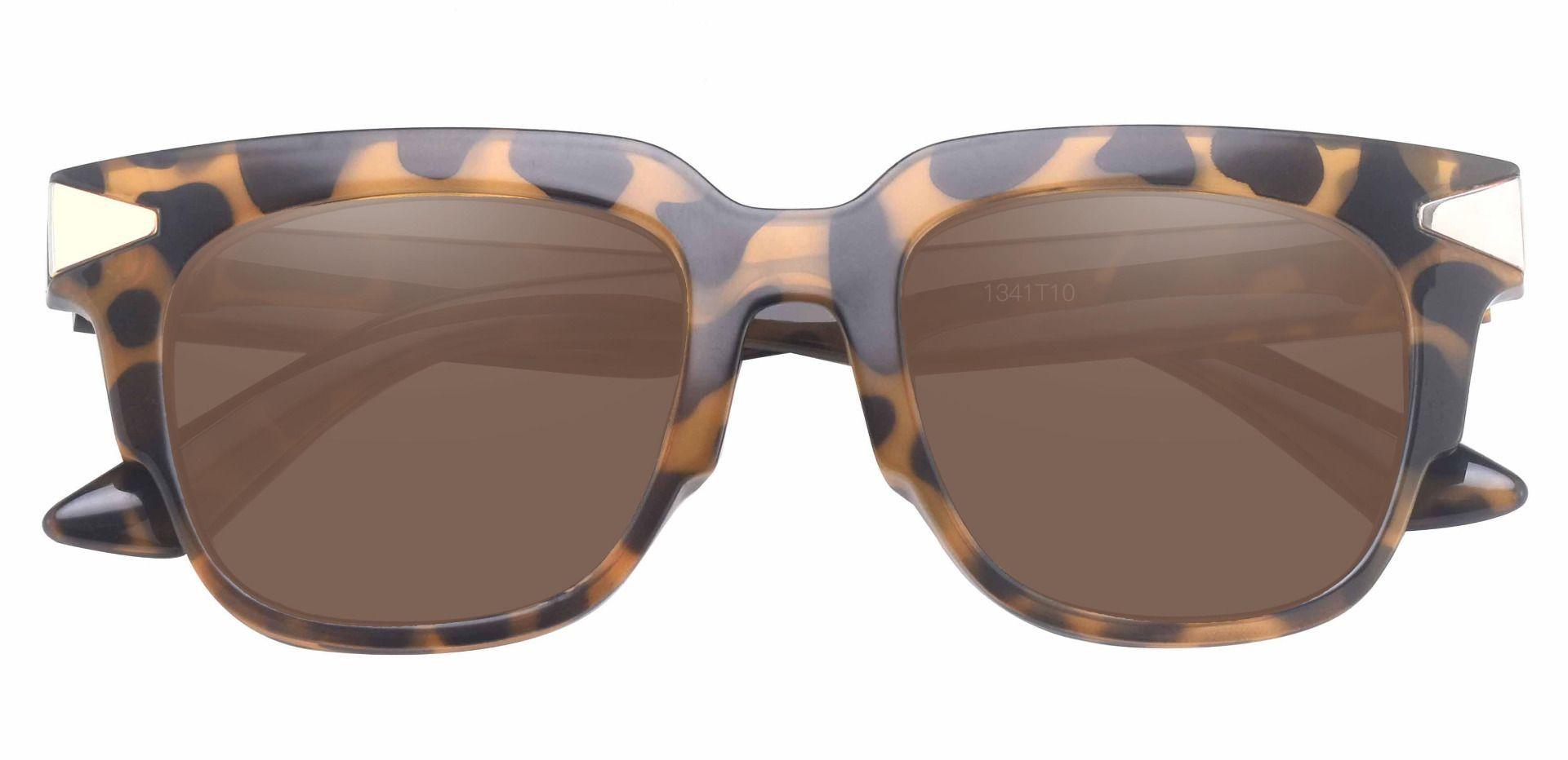 Ardent Square Progressive Sunglasses - Tortoise Frame With Brown Lenses