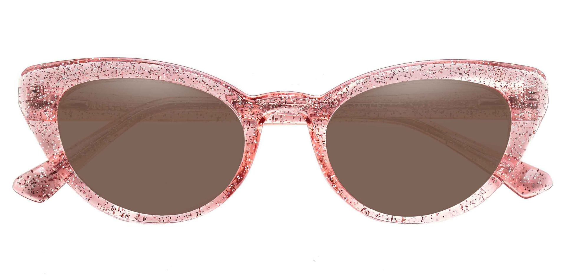 June Cat Eye Reading Sunglasses - Pink Frame With Brown Lenses