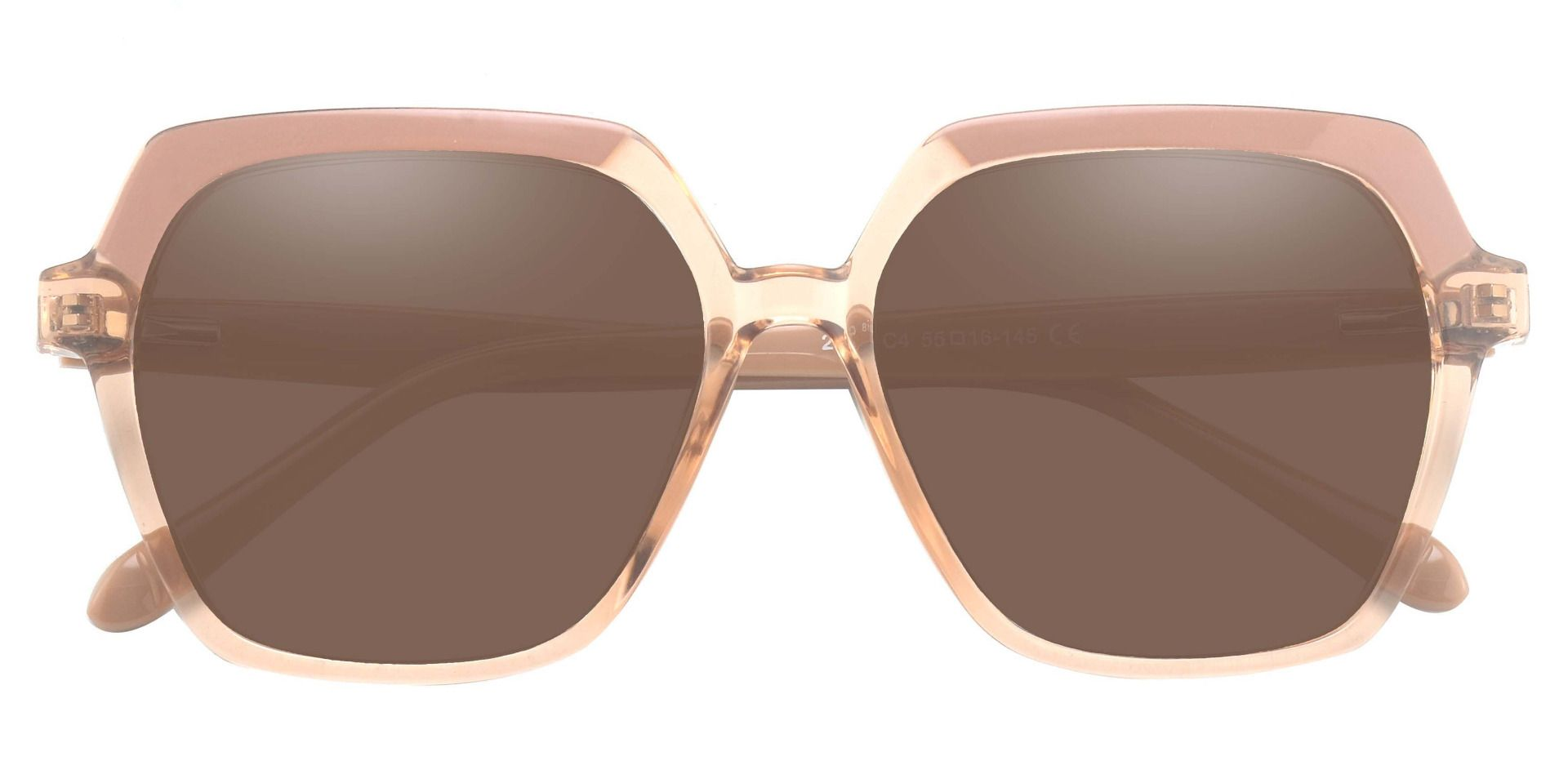 Regent Geometric Lined Bifocal Sunglasses - Brown Frame With Brown Lenses