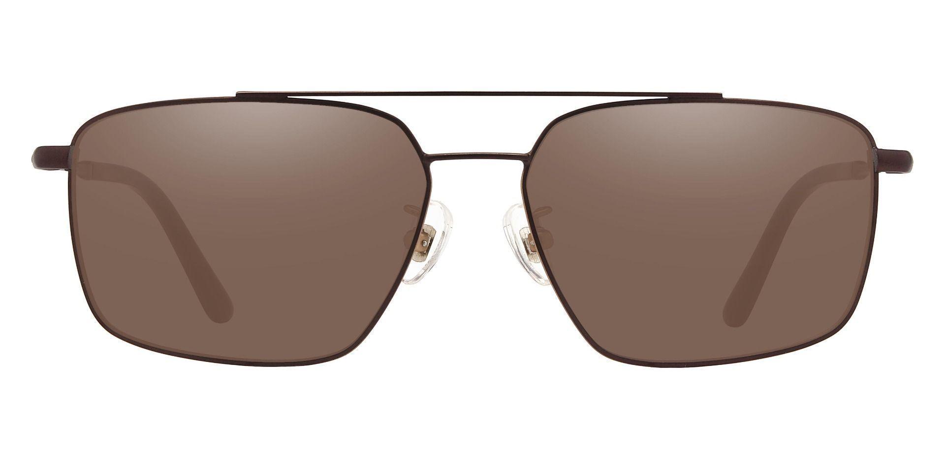 Barlow Aviator Prescription Sunglasses - Brown Frame With Brown Lenses