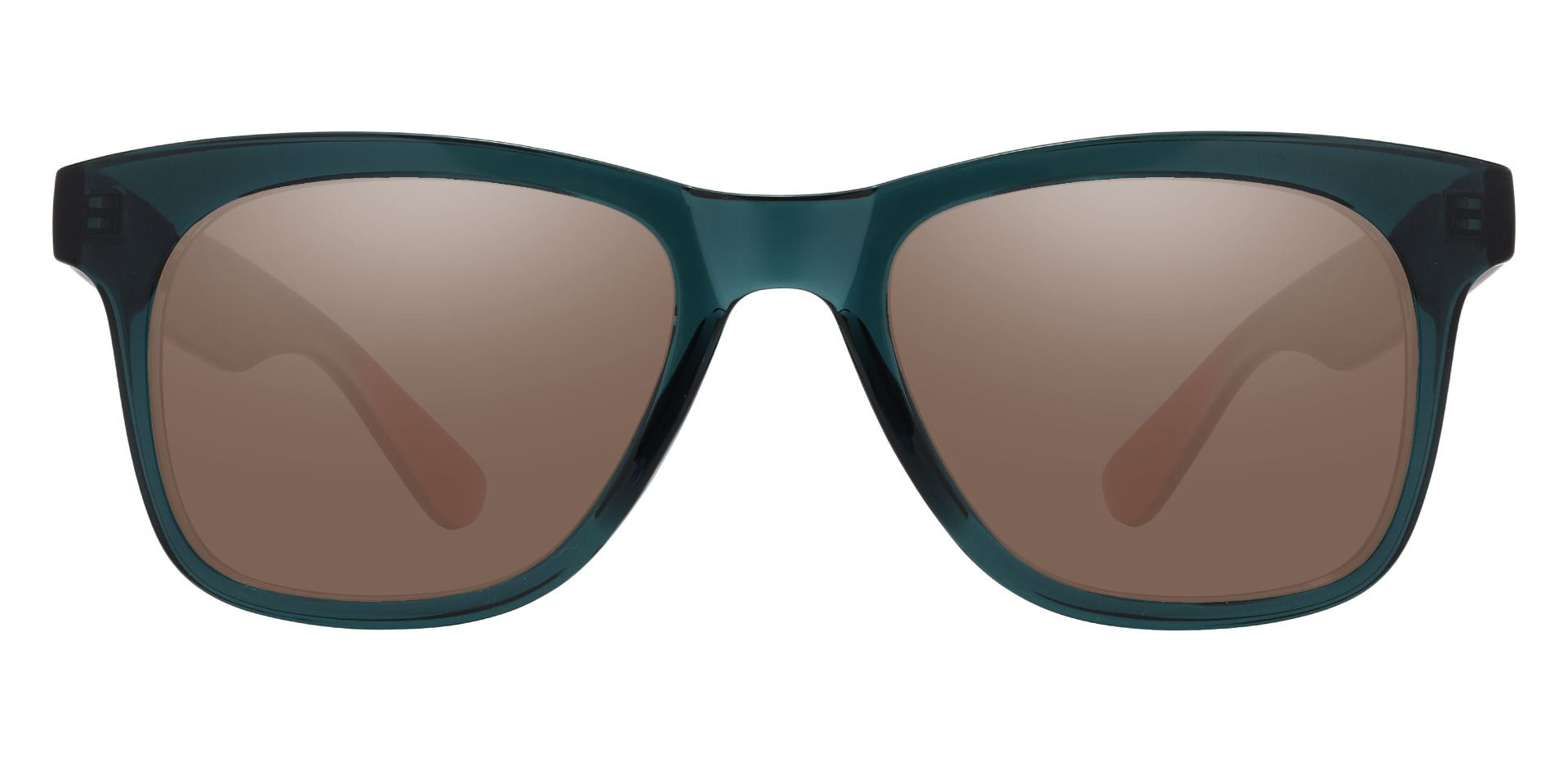 Hurley Square Prescription Sunglasses - Green Frame With Brown Lenses