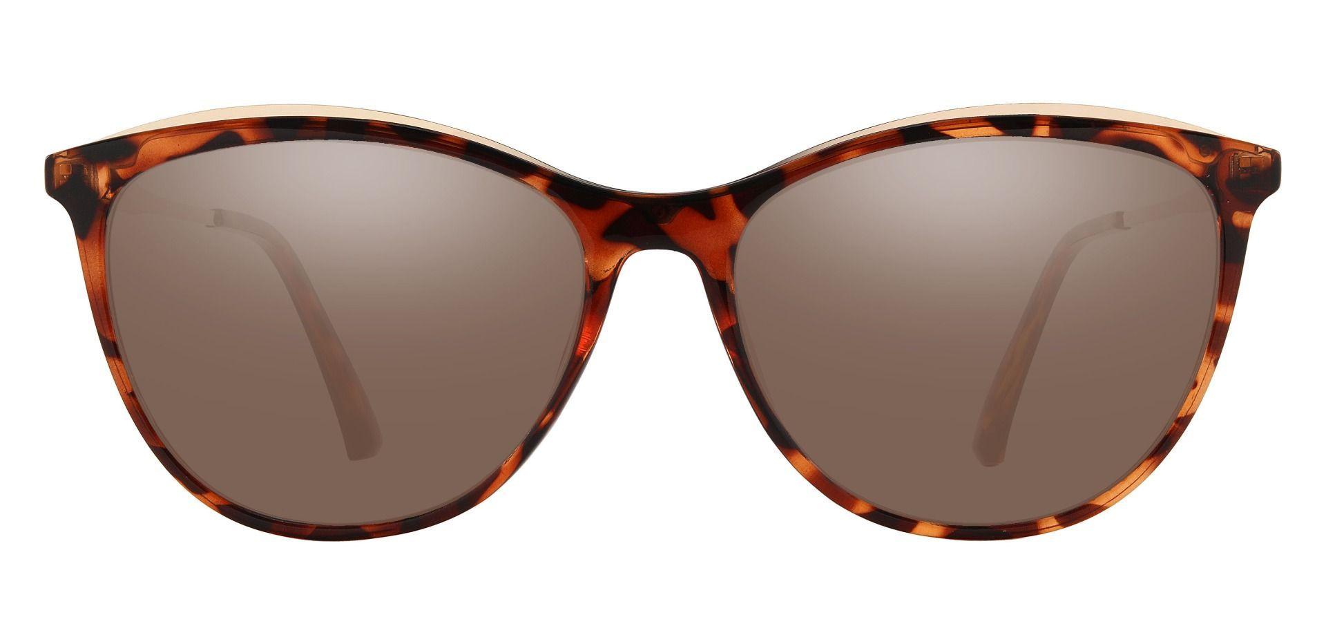 Snyder Oval Prescription Sunglasses - Tortoise Frame With Brown Lenses