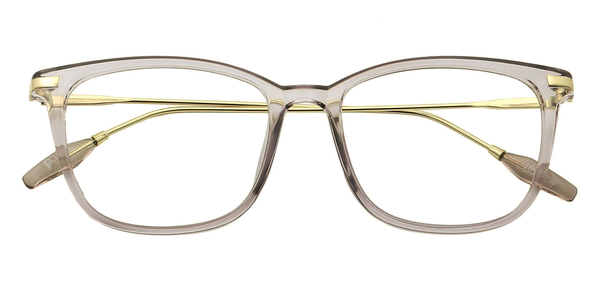 Katie Oval Non-Rx Glasses - The Frame Is Clear With Light Purple