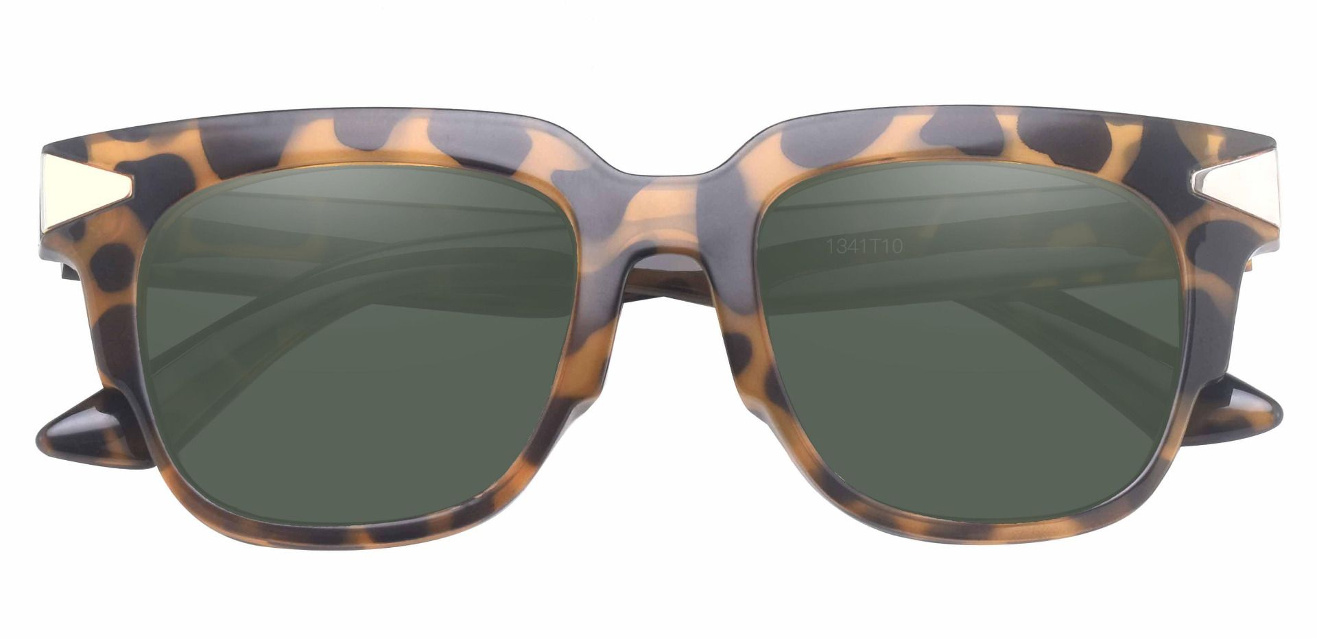 Ardent Square Non-Rx Sunglasses - Tortoise Frame With Green Lenses