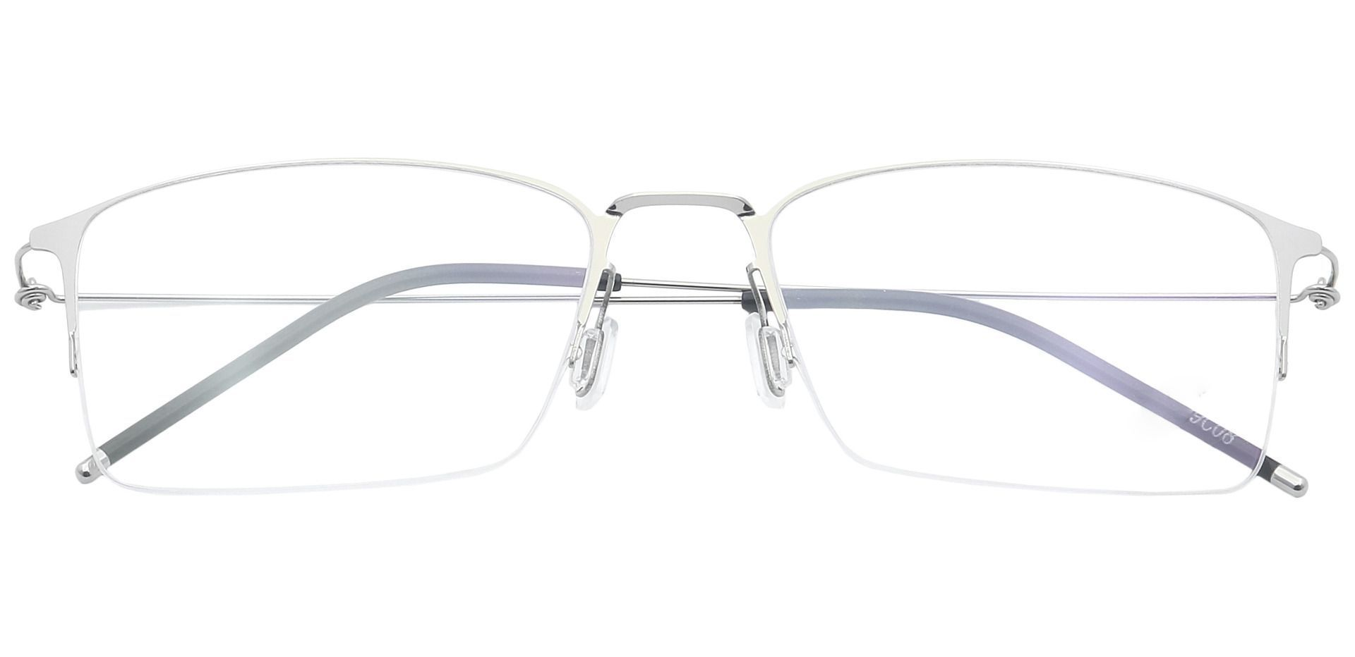 Rita Rectangle Blue Light Blocking Glasses - Clear