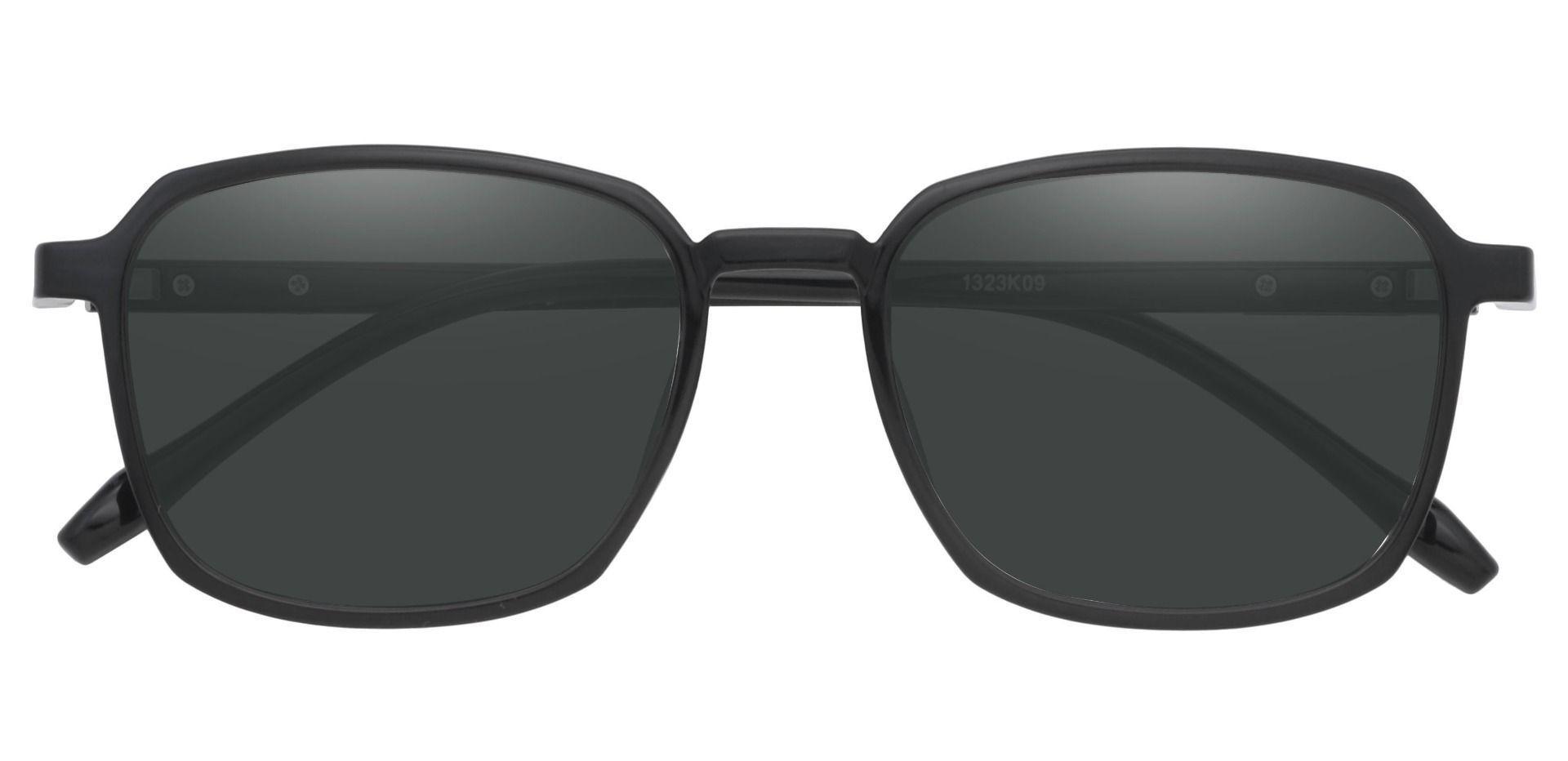 Stella Square Prescription Sunglasses - Black Frame With Gray Lenses