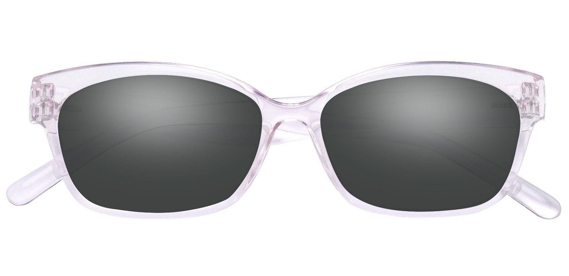 Adele Cat-Eye Prescription Sunglasses - Pink Frame With Gray Lenses