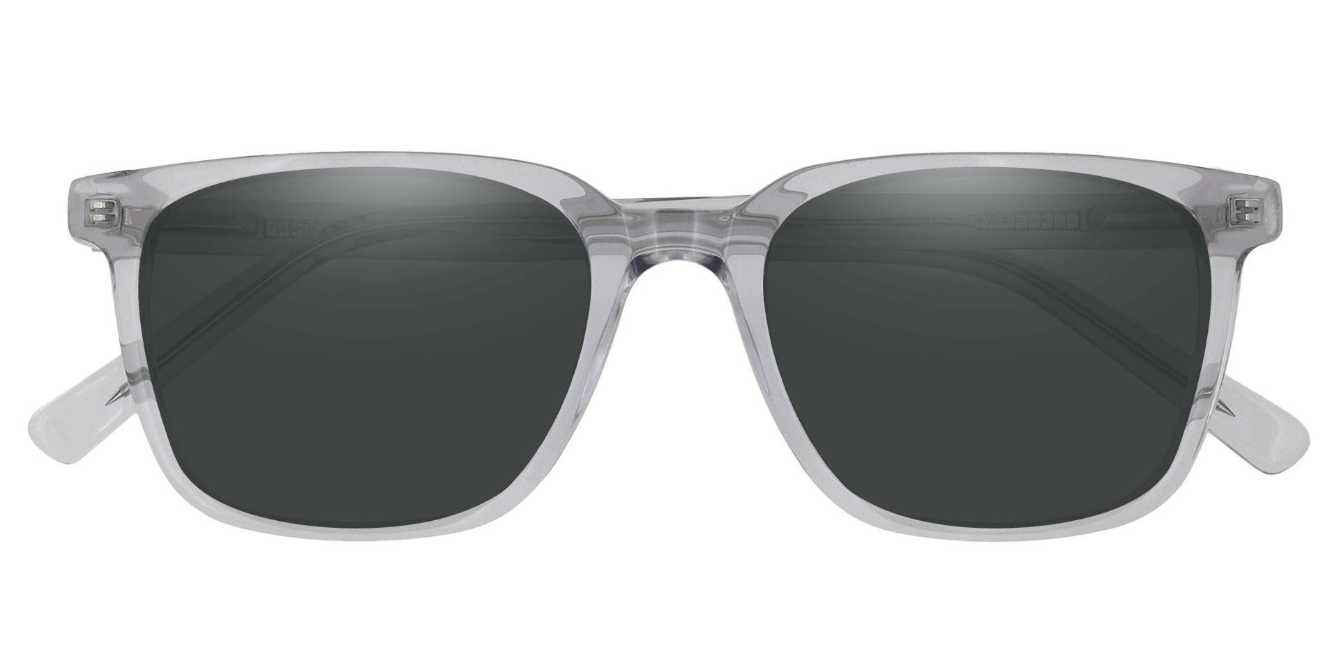 Alex Square Prescription Sunglasses - Gray Frame With Gray Lenses