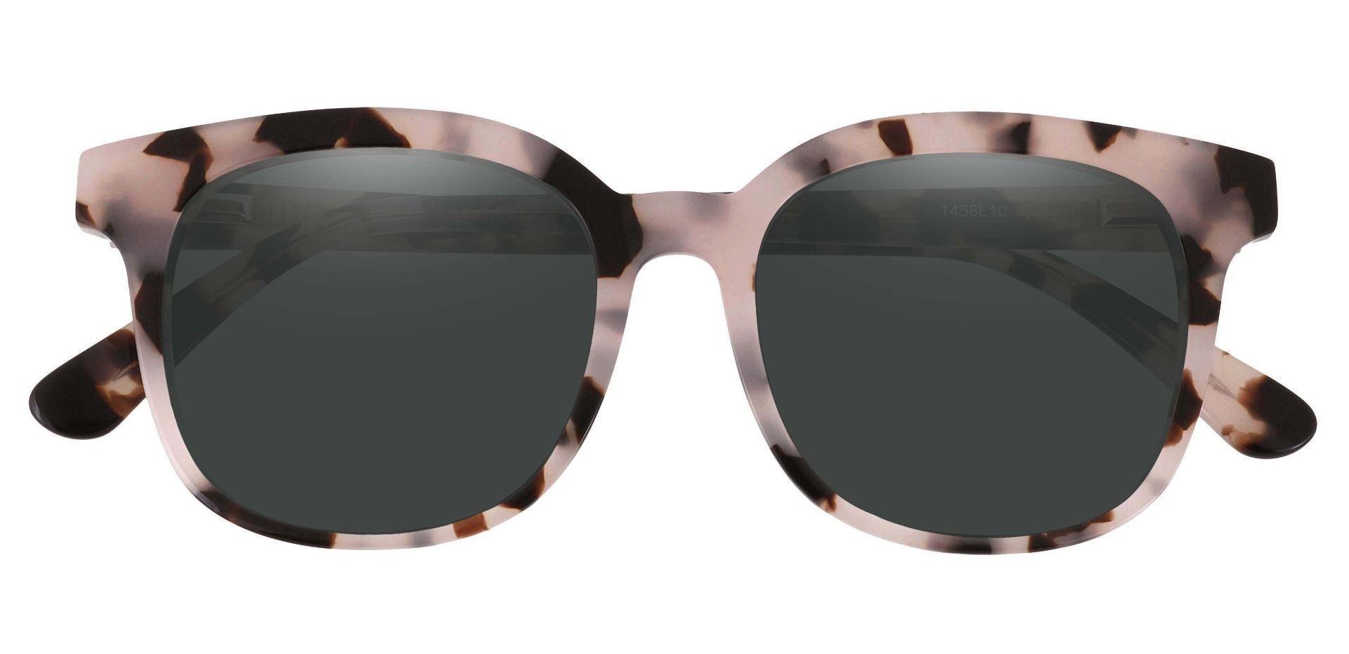 Tenor Square Prescription Sunglasses - Leopard Frame With Gray Lenses