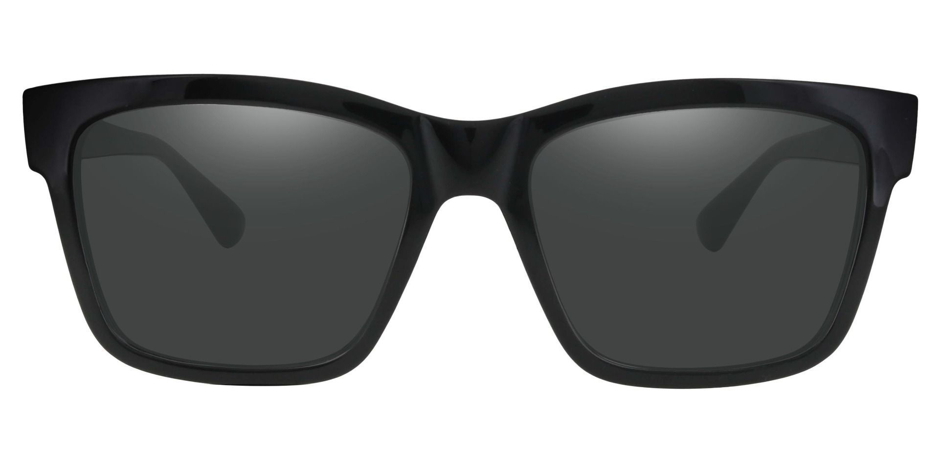 Brinley Square Reading Sunglasses - Black Frame With Gray Lenses